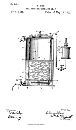 Johann Fey's patent number US474446 A.