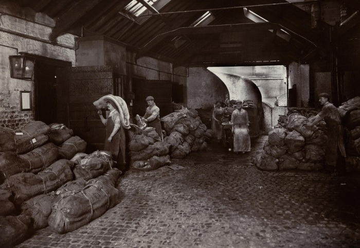 The Horsens share slaughterhouse around 1900. Courtesy of the Danish Agricultural Museum, Gl. Estrup.