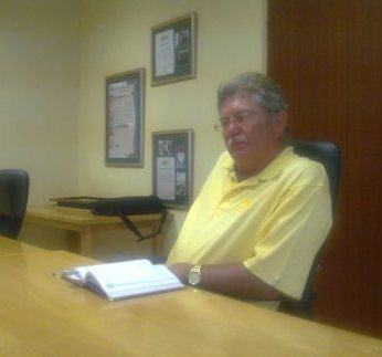 Anton van Rooyen at a meeting in Potchefstroom.