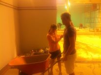Tristan and Lauren helping as often as they can.