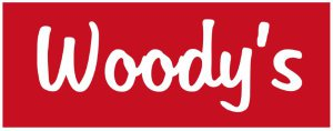 The first Woodys logo, created by Carina Lochner.