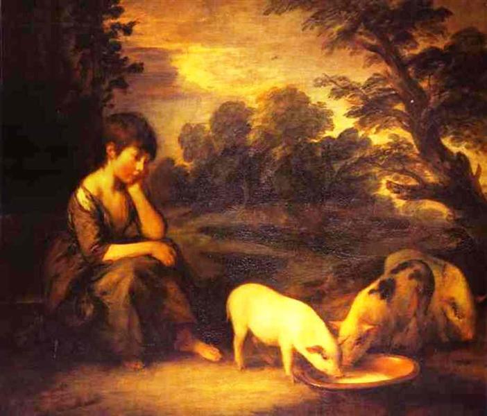 Girl with Pigs, Thomas Gainsborough, 1782.jpg