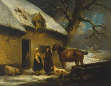 Outside an Inn, Winter George Morland 1795.jpg